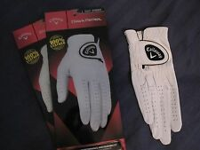 2 WOMENS LARGE FOR A LEFT HAND GOLFER CALLAWAY DAWN PATROL LEATHER GOLF GLOVES