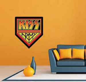 Kiss Band Army Rock Music Room Wall Decor Sticker Decal 20