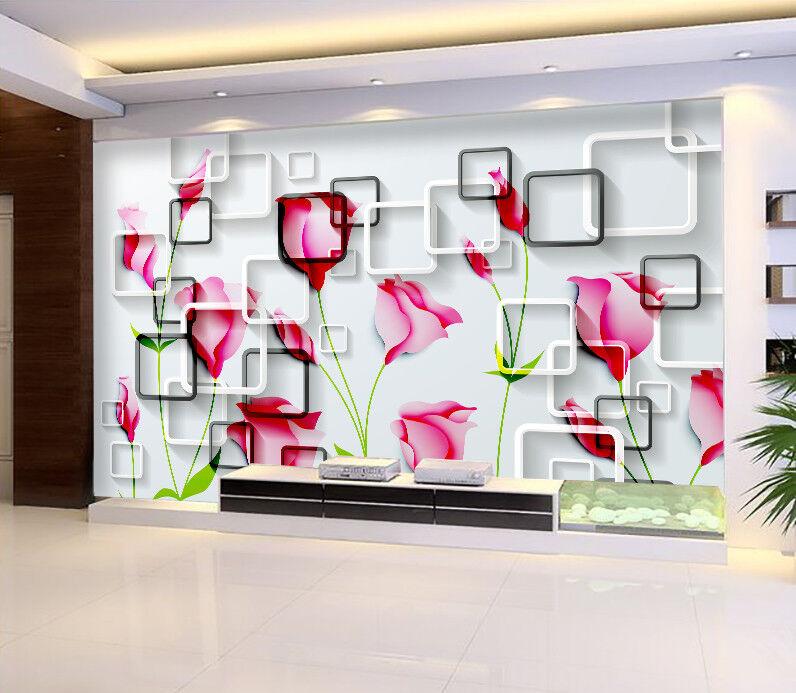 3D Blaumen Moderner Minimalist 8 Tapete Wandgemälde Tapeten Bild Familie DE Jenny | 2019  | Sale Deutschland  | Verschiedene aktuelle Designs