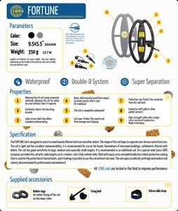 CORS-Fortune-9-5-x-5-5-DD-Coil-for-Fisher-Teknetics-Metal-Detectors-F75-F70