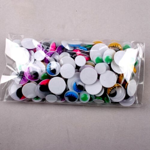 Googly Sizes Eyes Wobbly Colorful Crafts 200PCS Wiggly Wibbly Mixed Stick Art