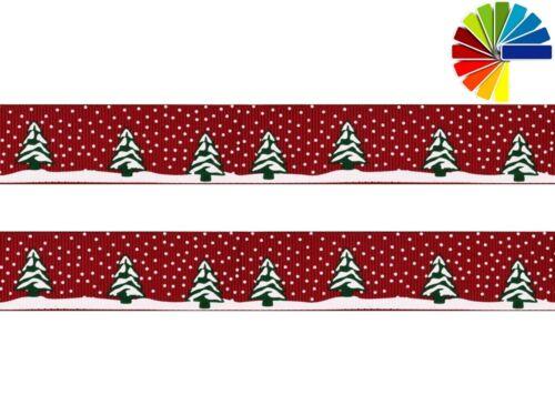 Schnee 1m Ripsband, 15mm Baum 1,25€//m Tannenbaum