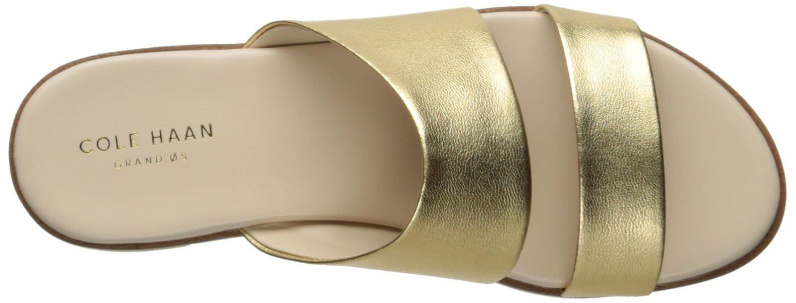 8.5 COLE HAAN ANICA ANICA ANICA SANDAL oro METALLIC donna STRAPPY MULE SLIDE scarpe d3fc61
