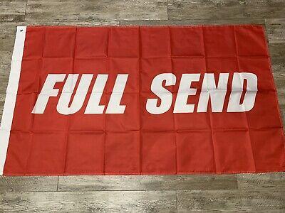 FULL SEND Flag 3x5ft Black White Flag Premium Quality