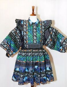 7bc6d082f144 Kenzo X H&M RUNWAY Patterned Most Popular Dress Size S FREE SHIPPING ...