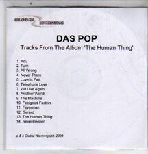 (DE688) Das Pop, Human Thing sampler - 2003 DJ CD