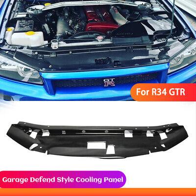 Radiator Cooling Slam Panel Cover Trim For Nissan Skyline GTR R34 Carbon Fiber B