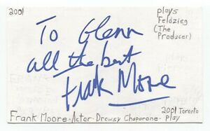 Frank Moore Signed 3x5 Index Card Autograph Signature Actor Giant Mine