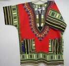 Dashiki Caftan Shirt Tribal African Women Rasta Hippie Blouse Top Men M L XL One
