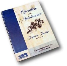 Ferguson To 20 Tractor Owners Operators Manual Maintenance Operation Ford Harry