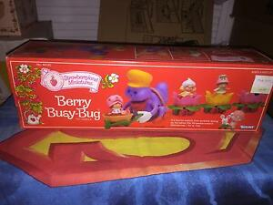 Vintage Strawberry Shortcake Toy Vehicle: Berry Busy Bug (Kenner 1982)  NEW