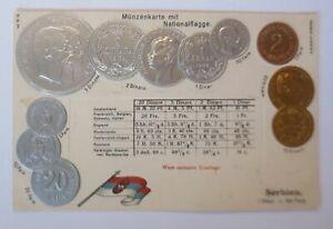 Coins-Serbia-1908-Embossed-Postcard-66738
