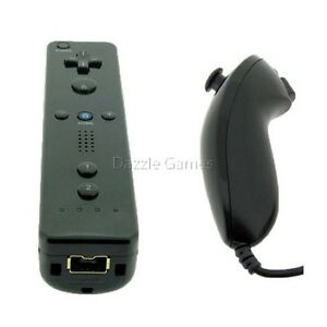 Black-Remote-Wiimote-Nunchuck-Controller-Set-Combo-for-Nintendo-Wii-Game