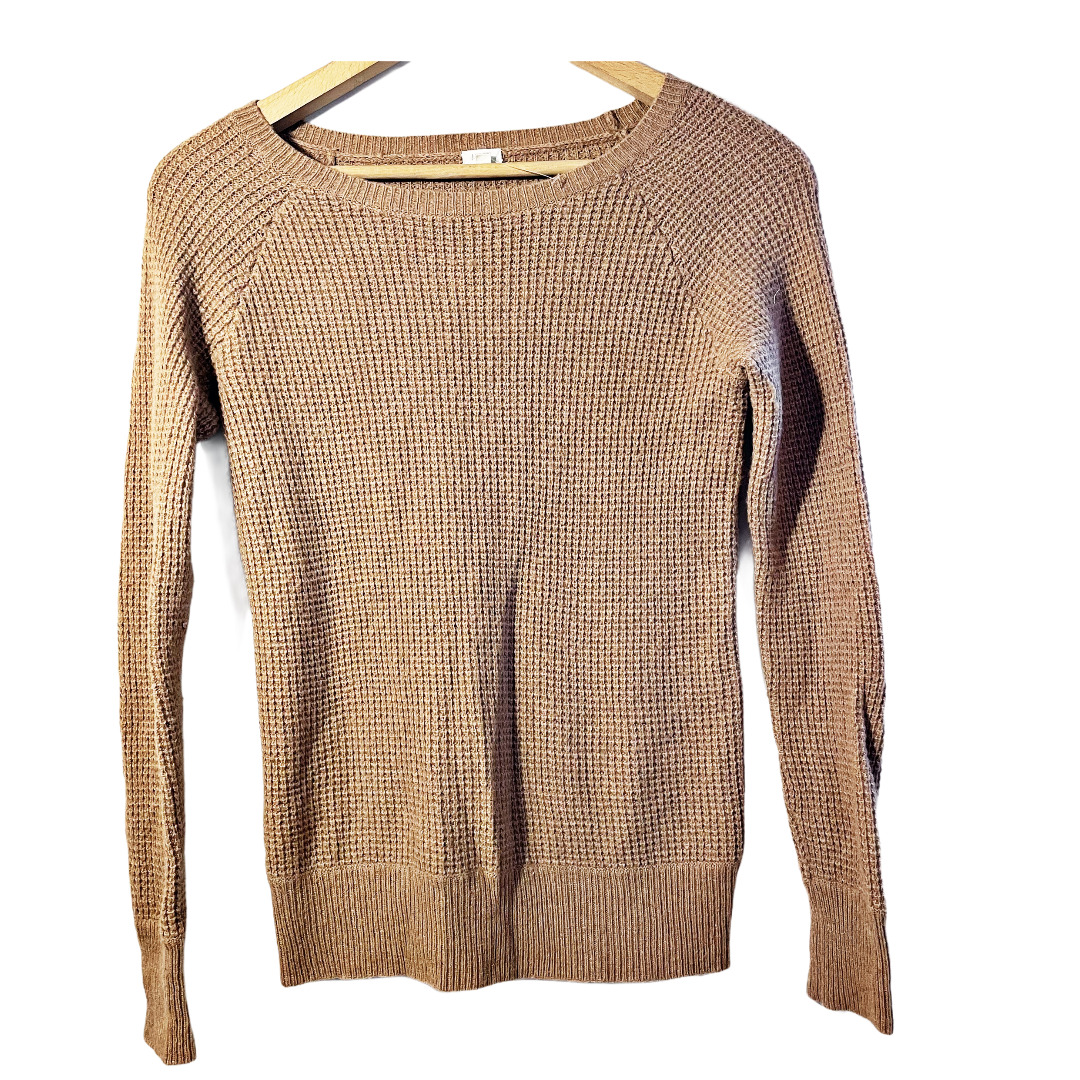 J.Crew Waffle Knit Textured Sweater Small - image 2