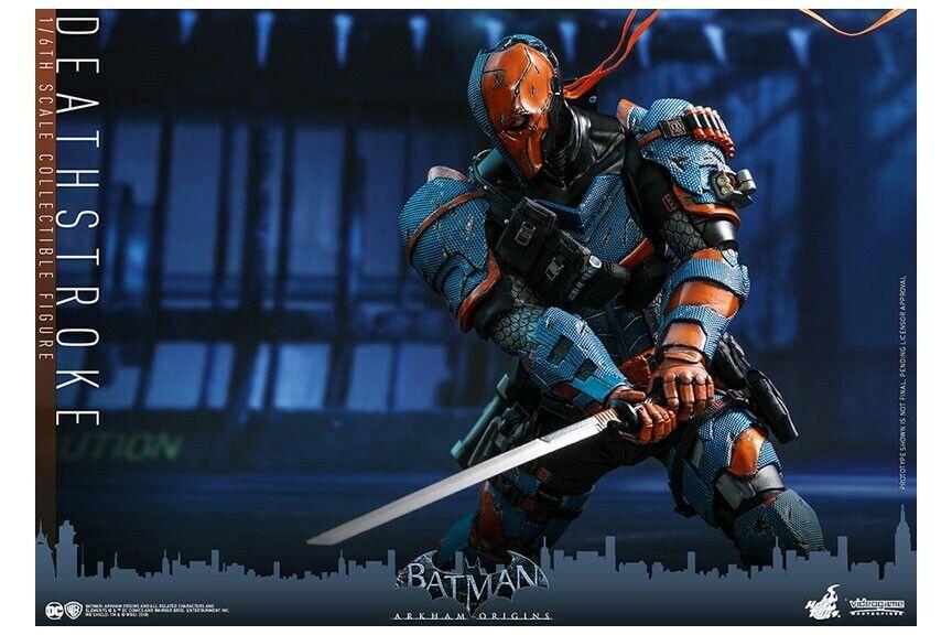 Masterpiece Batuomo Arkham Origins Deathstroke 16 caliente giocattoli Japan nuovo