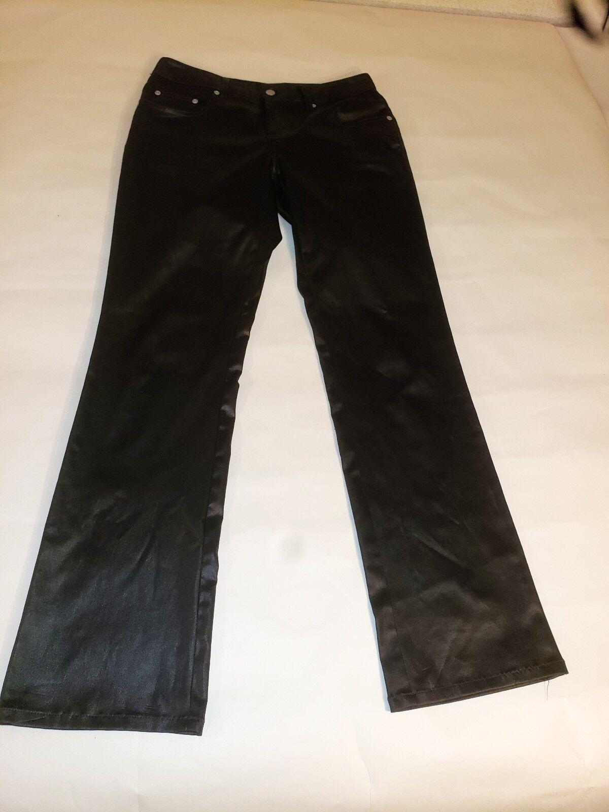 Vintage 80's Z Cavaricci Shiny Polyester Stretch pants Size 9