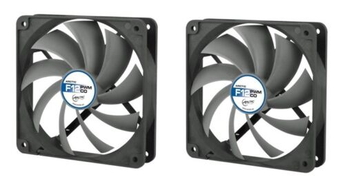 2 x Pack of Arctic Cooling F12 PWM PST CO 120mm Case Fan 1350 RPM