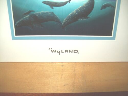 Whales California Coastline By Wyland With Silver Foil Stamp Ready To Frame
