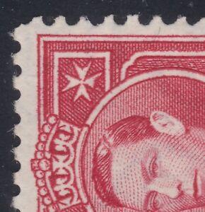 1938-Malta-KGVI-1-d-ERROR-VARIETY-FLAW-BROKEN-CROSS-R5-7-SG220a-MLH-CV-300