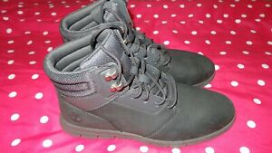 Details about Timberland Hoverlite Mens Size 8 Black Leather Lace Up Boots A10EL A2325 used