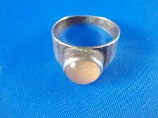 Design Ring 835 Silber mit rosa Stein vintage Ø16,5mm Modernist 60er/70er