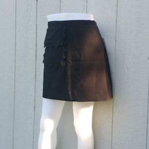 Victoria-Beckham-for-Target-Black-Scallop-Pocket-Trim-Twill-Skirt-NWT