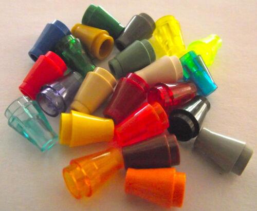 LEGO 1x1 cone bricks Part 4589 Packs of 20 Choose your Colour!
