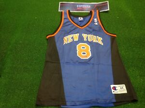 vtg 90s champion sprewell New York knicks NBA basketball shirt ... 23427f4c9