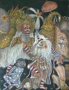 Hand-painting-Balinese-Bali-Barong-139
