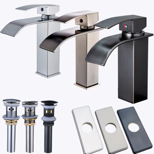 Waterfall Bathroom Sink Faucet Single Handle Bath Lavatory Faucets Deck Mounted