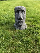 STONE GARDEN EASTER ISLAND HEAD COUPLE TIKI MOAI STATUE ORNAMENT COLLECTION ONLY