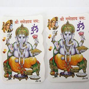 Adhesivo-Pegatina-2X-Ganesh-Om-India-Goa-Hippie-God-Stickers-6-X-9-cm-36