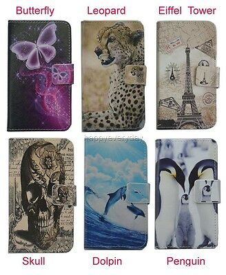 For HTC Phone case Wallet Card DELUXE leather cartoon cute Cover