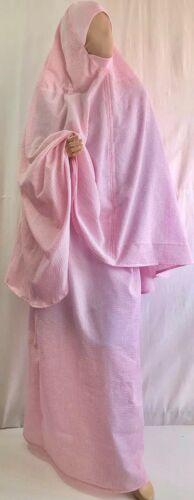 Gebetskleidung NEU Sommer Qualität rosa Hijab Rock handmade 100/% Baumwolle S-L