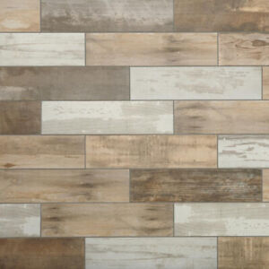 Details About Wood Look Porcelain Tile Vintage Floor Wall Shower Kitchen Accent Wooden Style