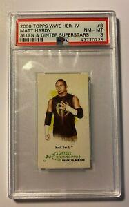 Matt-Hardy-2008-Topps-WWE-Heritage-IV-Allen-amp-Ginter-Mini-8-PSA-8-NM-MT-A-amp-G