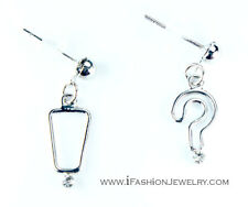 Spinningdaisy Question and Exclamation Mark Earrings
