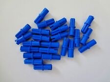 LEGO Blue Technic, Axle Pin with Friction Ridges Lengthwise, Lot as Shown