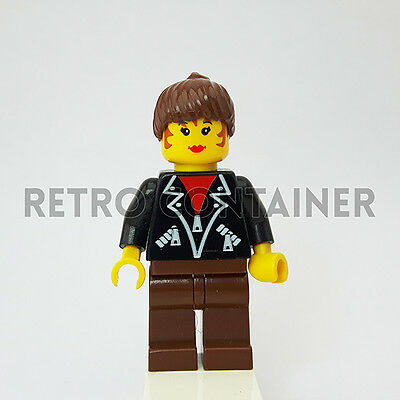LEGO Minifigures 1x tel003 Leather Jacket Town Omino Minifig 1197 Woman