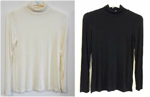 Ladies-Roll-Neck-Polo-Jersey-Top-UK-Size-8-18