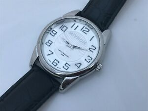 Miykon Men Watch Analog Silver Tone Black Band Wrist Watch Japan Movement
