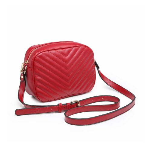 Small Cross Body Messenger Shoulder Woman Girl V Quilted Faux Leather Bag