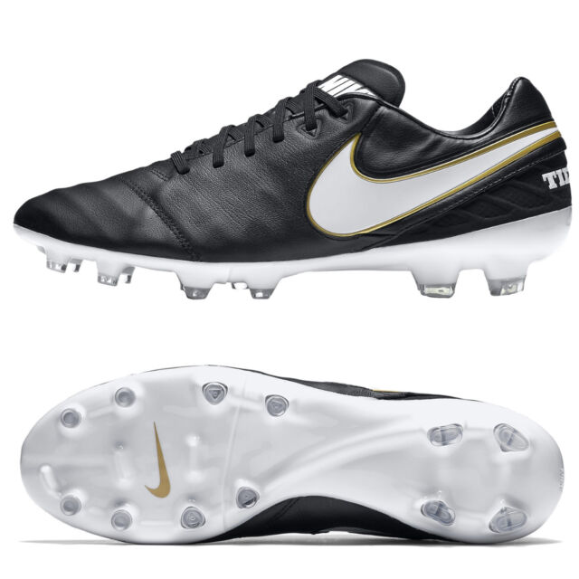 Nike Tiempo Legacy II FG Mens Black Leather Football Boots RRP £100 ~ SALE ~ d98982241ae59