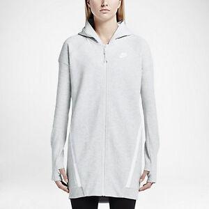 92cedf9ea6cf Nike Tech Fleece Mesh Cocoon Jacket Women s Medium   Birch Heather ...