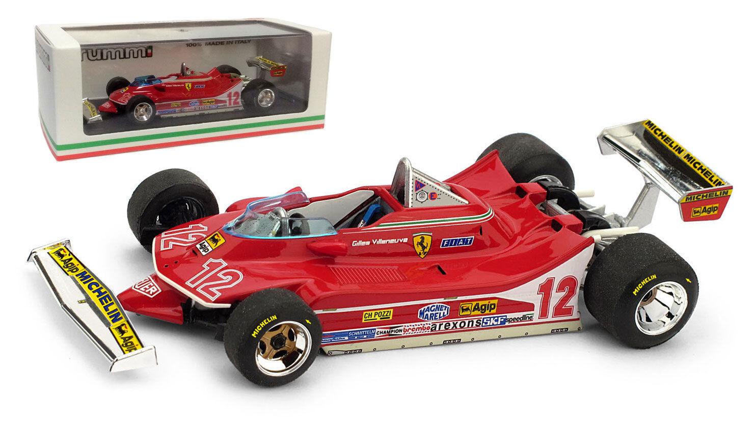 BRUMM FERRARI 312 t4   12 GP France 1979-Gilles Villeneuve, échelle 1 43,