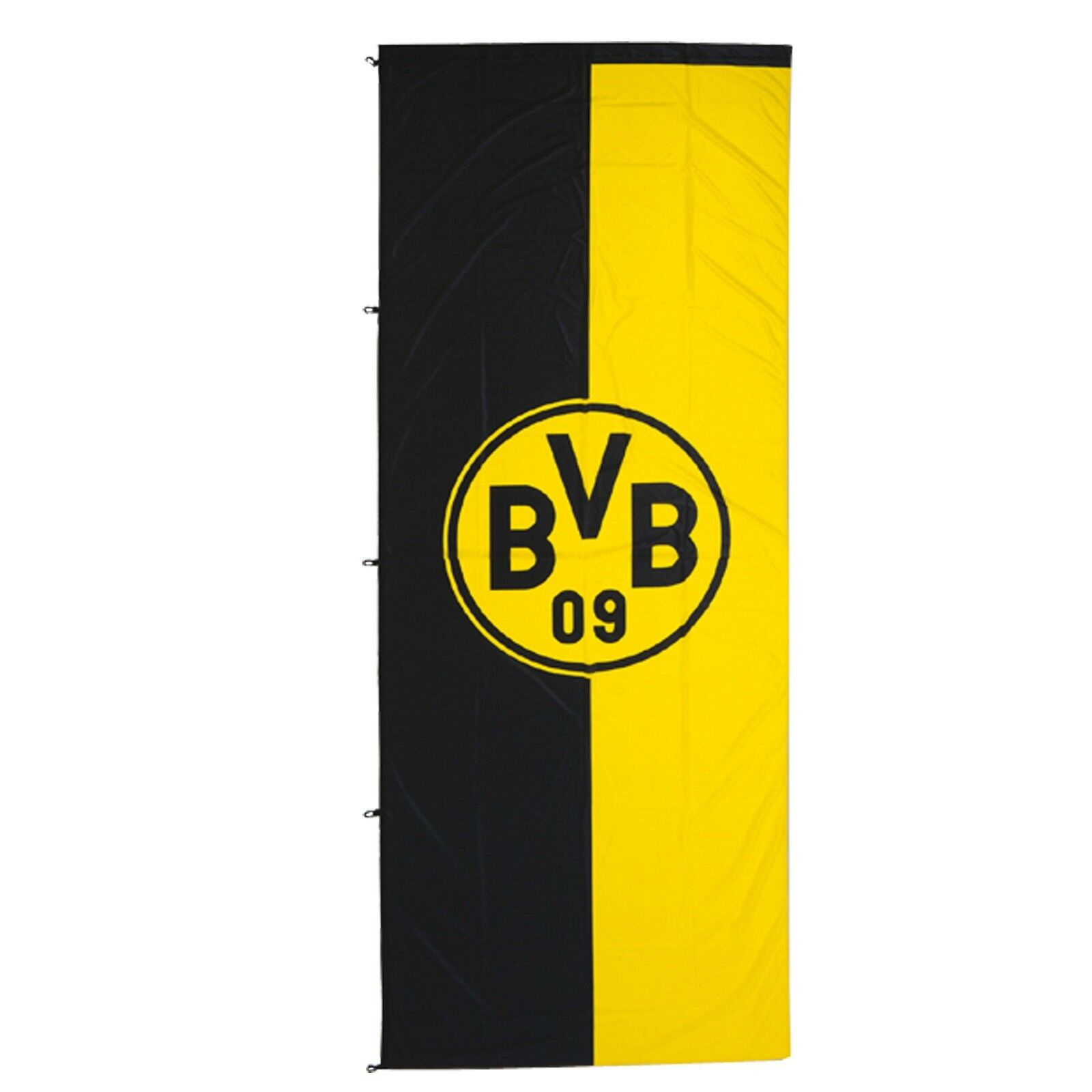 BVB-Hissfahne im Hochformat (150x400 cm) NEU&OVP Borussia Dortmund XXL    Roman