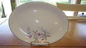 "Vintage 11"" Oval Serving Platter by Cannonsburg Simplicity circa 1940's"