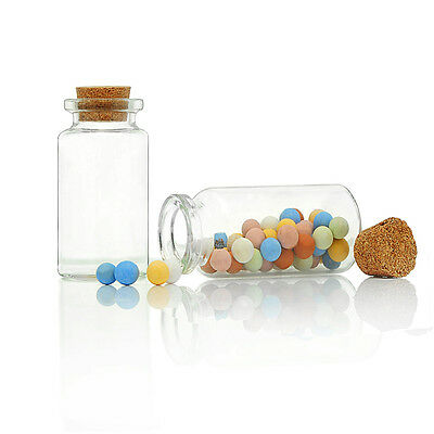 5PCs Tie Plug Tiny Glass Bottle Jewelry Vial Potion 4.5cm x2.2cm