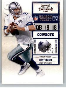 2010 Playoff Contenders #27 Tony Romo - Dallas Cowboys