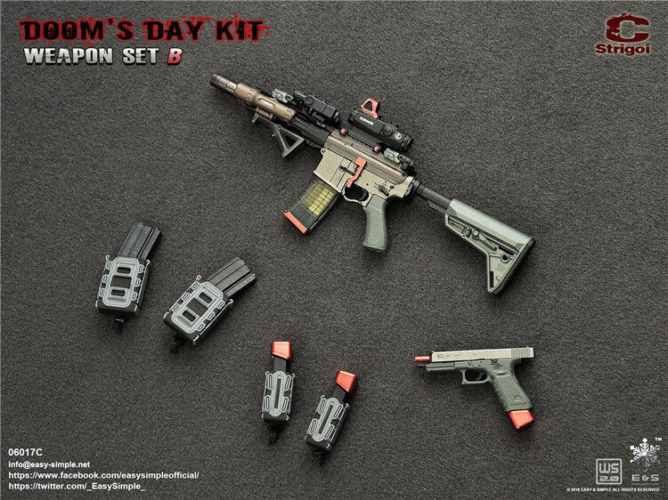 1 6 Easy&Simple 06017C Doom's Day Kit II Rifle Weapons Set F 12  Action Figure